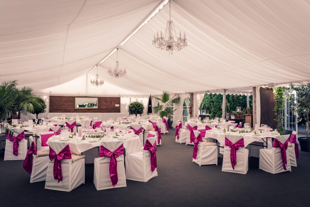 Mangosteen Catering, Hochzeit im Traumgarten Thalwil, Tischdekoration