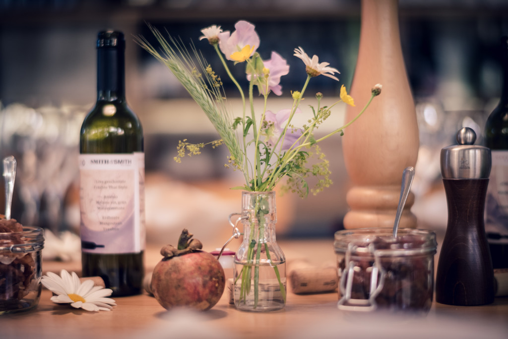 Tischdekoration, Apéro, Mangosteen Catering @ Smith & Smith Wine Company