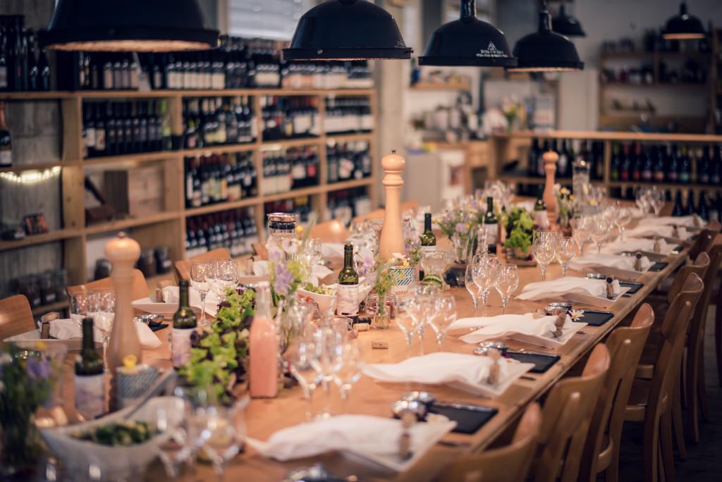 Tischdekoration, Mangosteen Catering @ Smith & Smith Wine Company