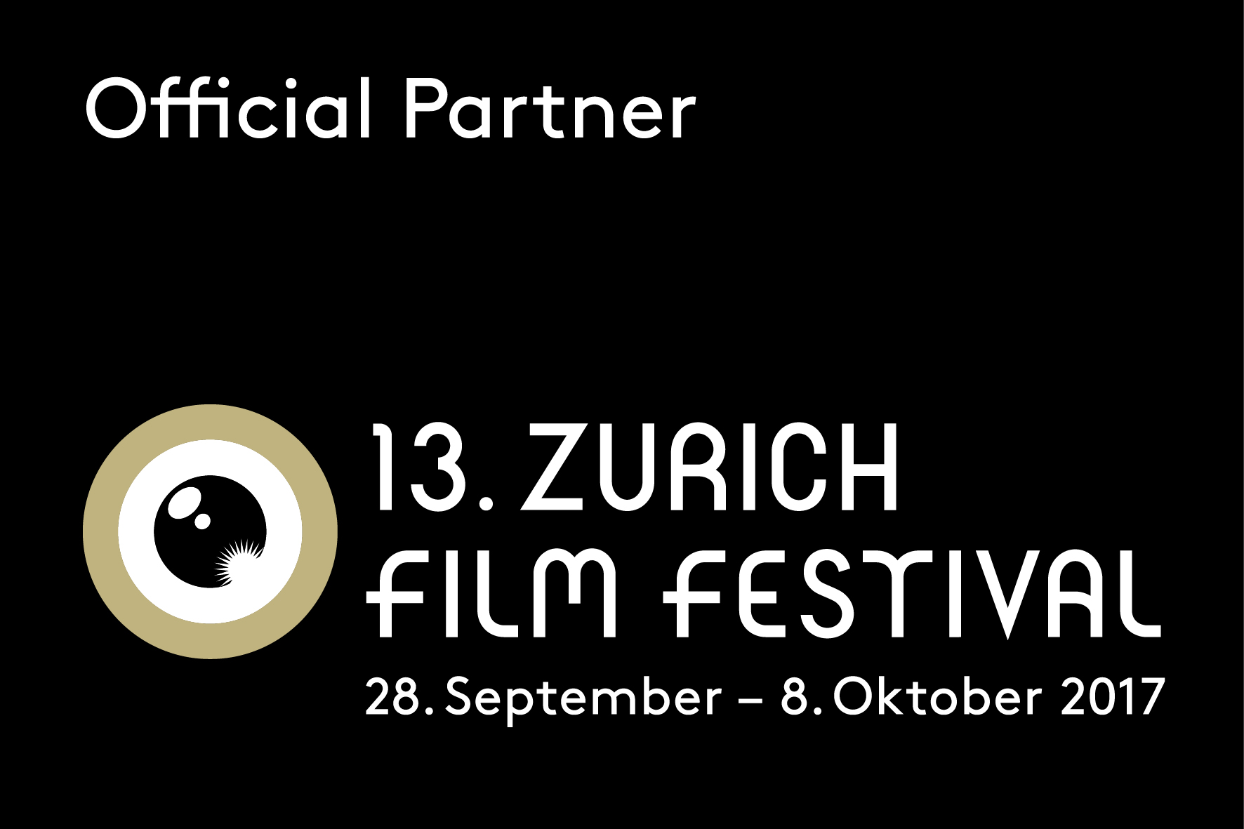 Official Partner 13. Zurich Film Festival